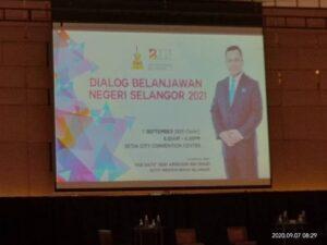 DPIM Selangor : Dialog Belanjawan Negeri Selangor 2021 1
