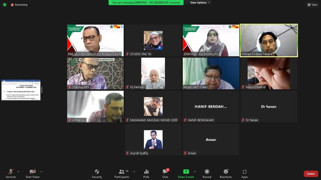 DPIM Selangor : Mesyuarat Ahli Jawatankuasa Bil 2/2021 (2021 - 2024) 1